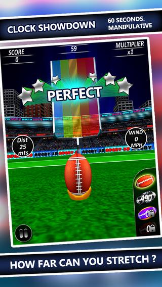 Football Kick Flick - Free Rugby Football Field Goal Kicks