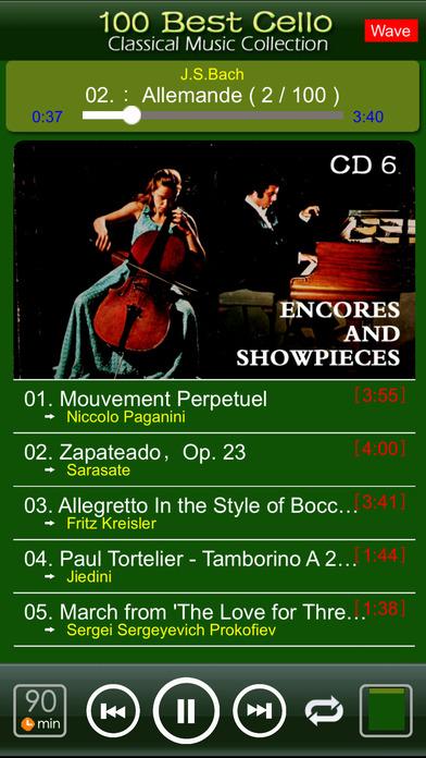 Classic Cello [100 Classical music] iPhone Screenshot 4