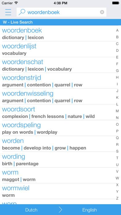 Dutch English Dictionary & Translator iPhone Screenshot 1