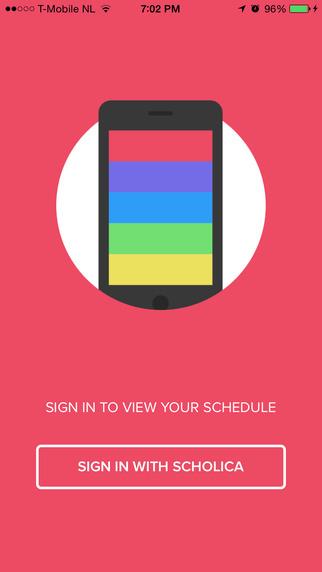 Schedule – Quickly view your Scholica schedule