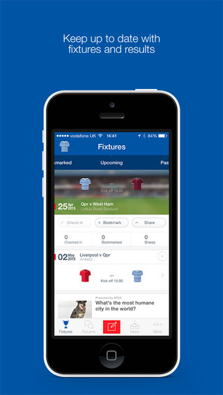 Fan App for Queens Park Rangers FC