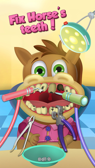 Little Buddies Animal Hospital Dentist Office Ear and Eye Doctor - Kids Game