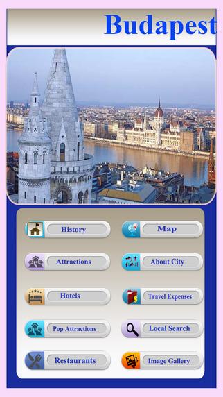 Budapest Offline City Map Guide