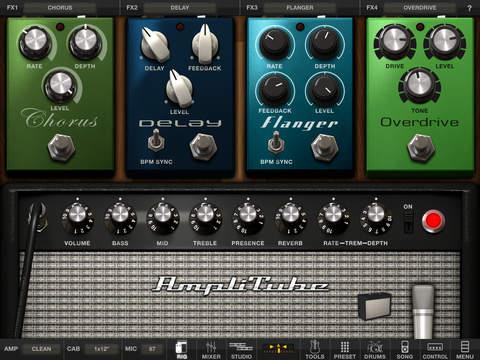 《音乐强软 摇滚模拟器:AmpliTube [iPad]》