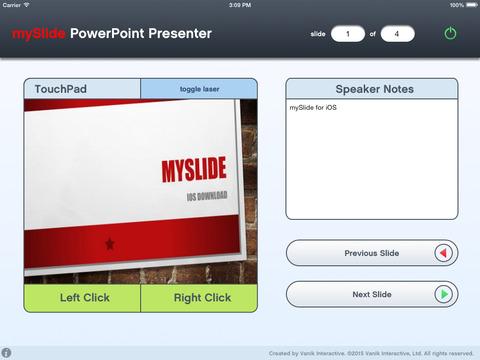 mySlide Powerpoint Presenter iPad Screenshot 1