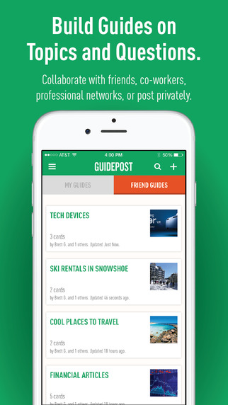 Guidepost — Guide your friends to great things