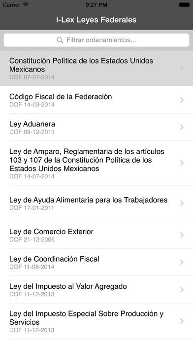 Leyes Fiscales iPhone Screenshot 1