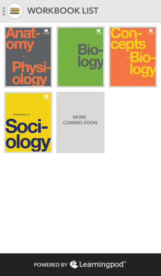 OpenStax College Companion Workbooks