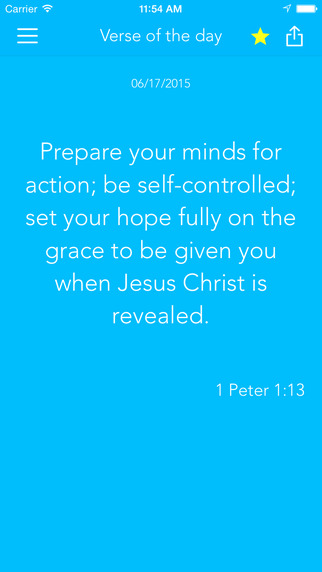 My verse of the day