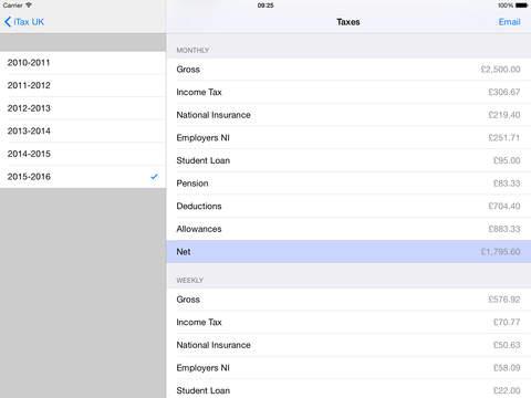Salary UK iPad Screenshot 2