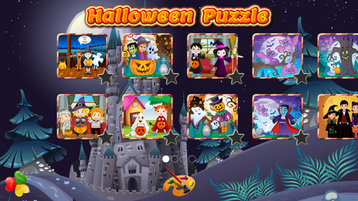 Halloween Games Free: Cute and Scary Jigsaw Puzzles and Drawings for Kids
