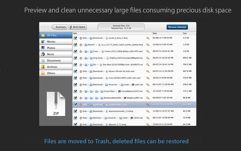 Large File Cleaner Screenshot - 2