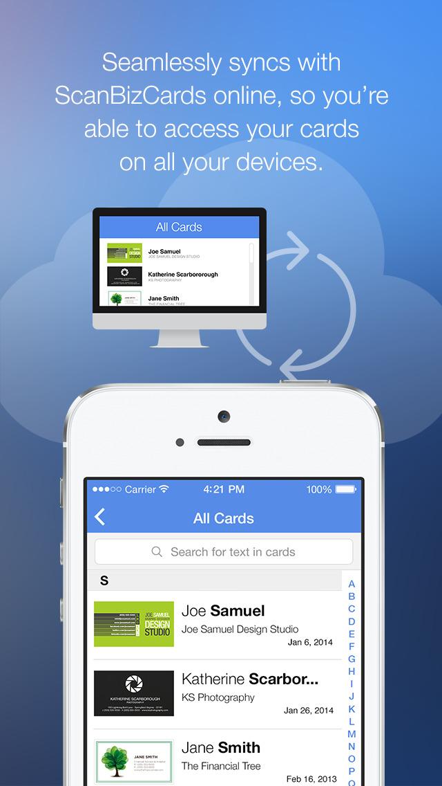 App Shopper ScanBizCards Lite Business Card Scanner