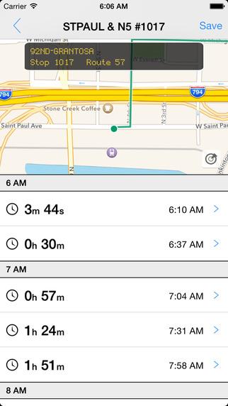 Transit Tracker - Milwaukee MCTS