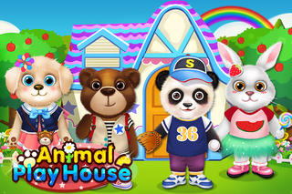 crazyparty_kitty & puppy party house! - animal pet kids games