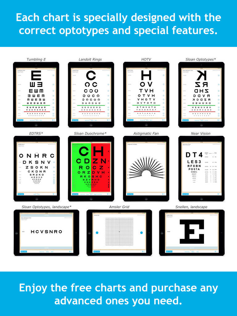 App shopper eye chart pro test vision and visual acuity better whats new geenschuldenfo Choice Image
