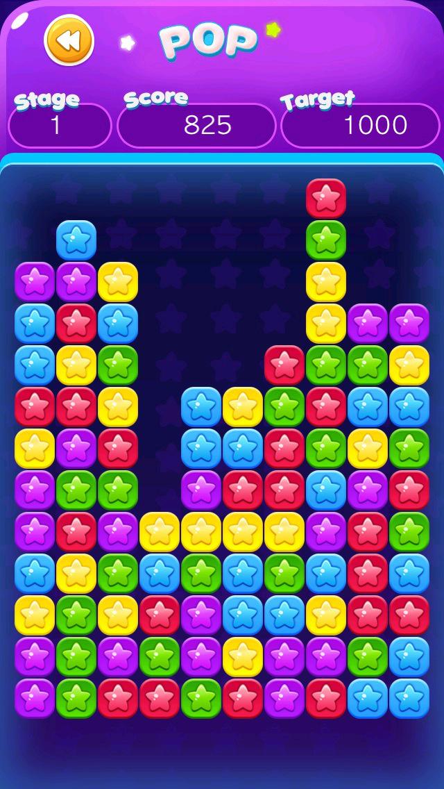 Screenshot 1 Pop Blast — Link Color Star, Crush Square Mania