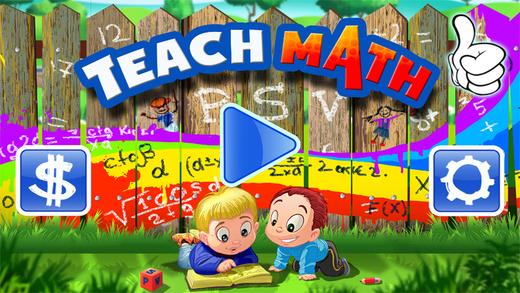 Teach Math. Kids train