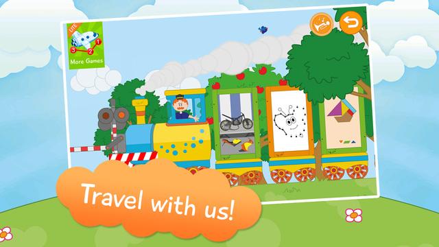 Kids Toddlers Game Train - Lite