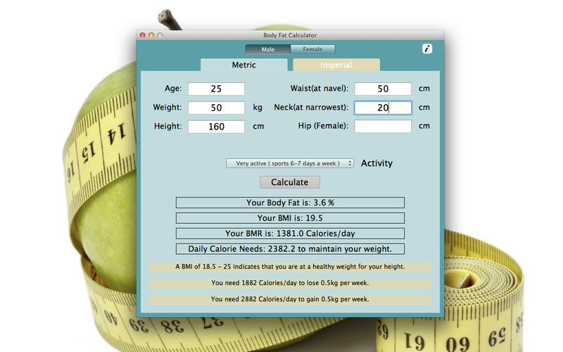 Body Fat Calculator Screenshot - 1