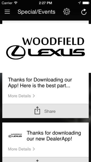 Woodfield Lexus iPhone Screenshot 3