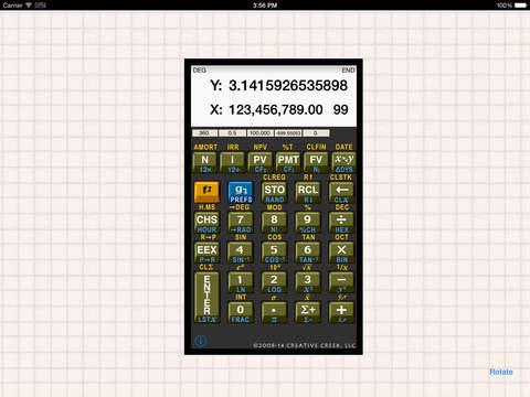 MathU RPN Calc iPad Screenshot 1