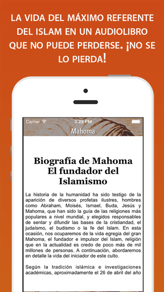 Mahoma Biografía iPhone Screenshot 2