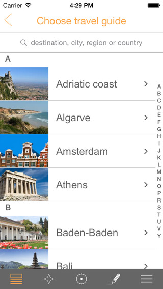 my travel guide - more than 150 destinations for free by TOURIAS free offline maps