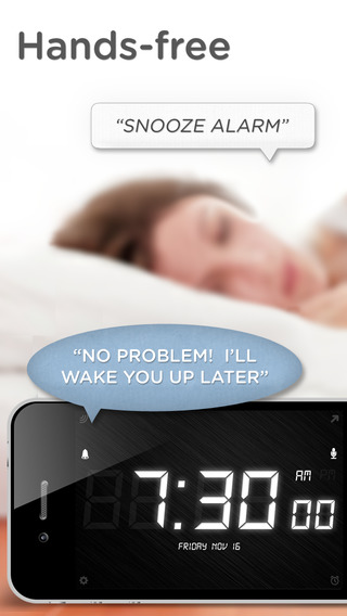 SpeakToSnooze - Alarm clock with voice control commands to snooze and turn off your alarm