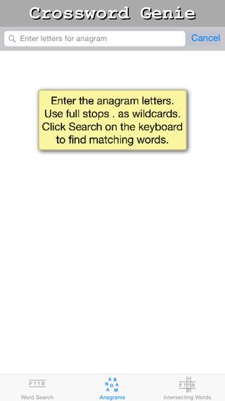 Crossword Genie iPhone Screenshot 2