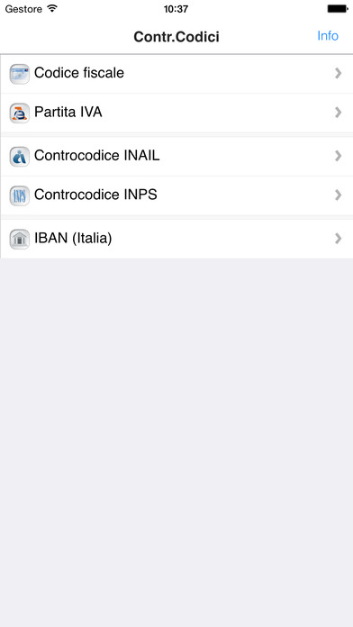 Controllo Codici iPhone Screenshot 2