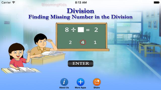 高評價推薦好用教育app Finding Missing Number in the Division!線上最新手機免費好玩App