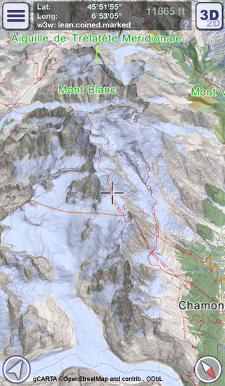 GeoFlyer 3D Map Europe - GPS Tracks Routing and Offline Maps for Hiking Biking and the Outdoors