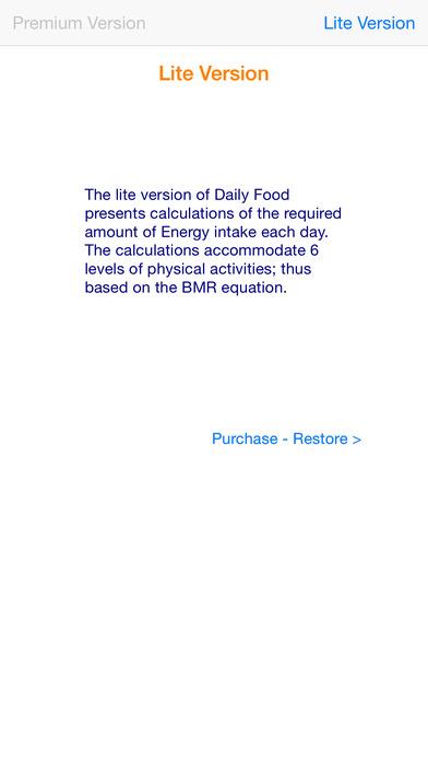 iNeedThisMuchFood iPhone Screenshot 1