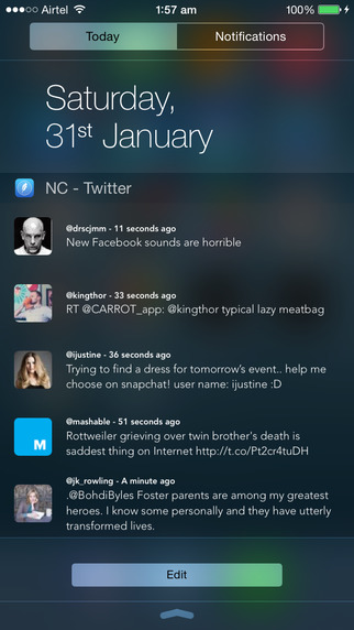 NC – Twitter Widget for Notification Center – 通知中心 Twitter 挂件[iOS]丨反斗限免