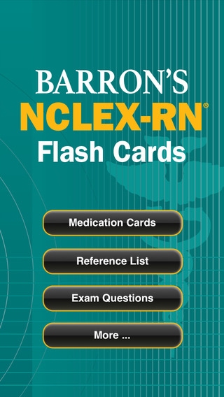 Barron's NCLEX-RN Flash Card Review iPhone Screenshot 1