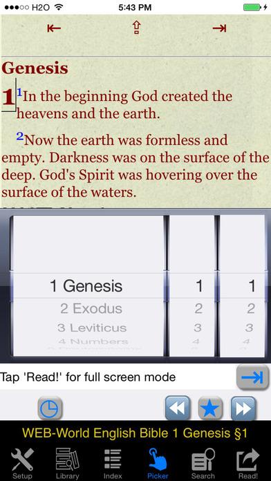 Bible WEB (World English Bible) iPhone Screenshot 3