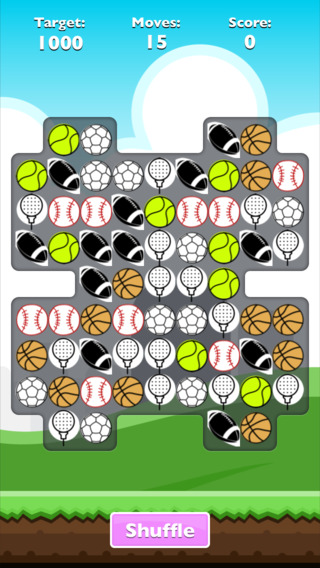 Crushing balls: match 3 balls dashing for sports fan