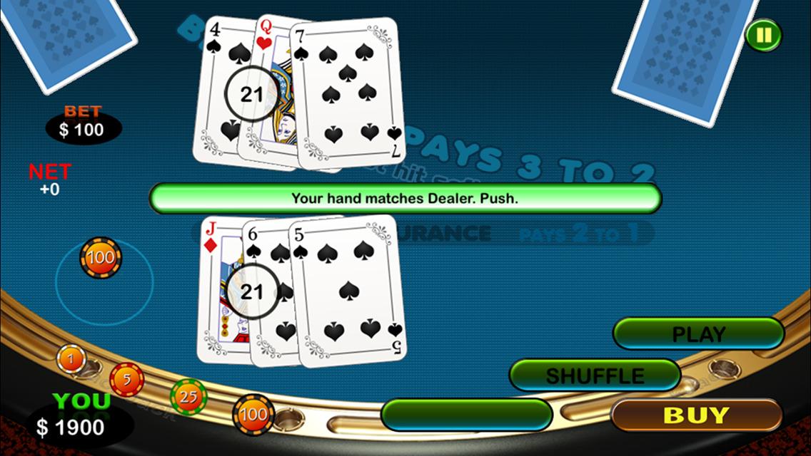 Match the dealer blackjack app