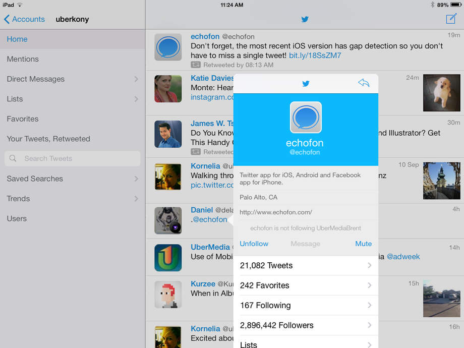 Echofon Pro for Twitter - iPhone Mobile Analytics and App Store Data