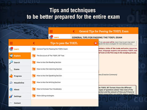 TOEFL English Test with MosaLingua: improve your score Screenshots