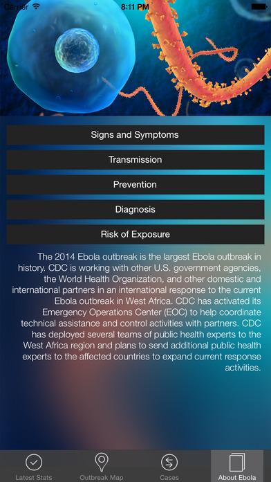 Ebola Tracker screenshot 4