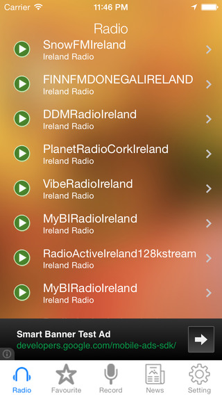 Ireland Radio News Music Recorder