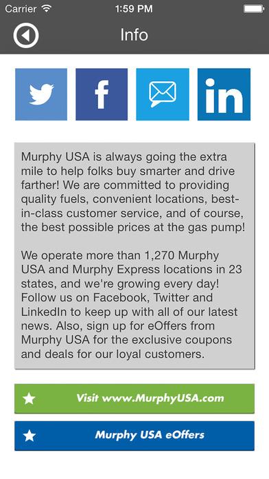 Cheap Gas Finder by Murphy USA iPhone Screenshot 1