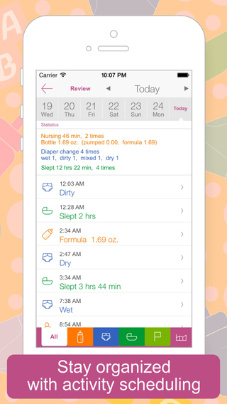 Sprout Diaper Changer. From the maker of Spout baby products comes the Sprout Diaper Changer App. It offers a simple way to keep track of diaper changes for one or multiple babies. Record your daily number of wet and dirty diapers then track out the week. If you need to, you can go as far as recording bowel movement color and texture.