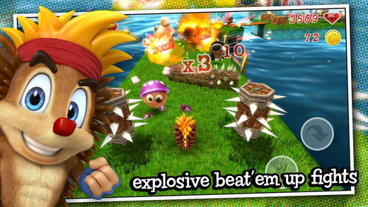 Crazy Hedgy - Beat 'em up 3D Platformer Screenshot
