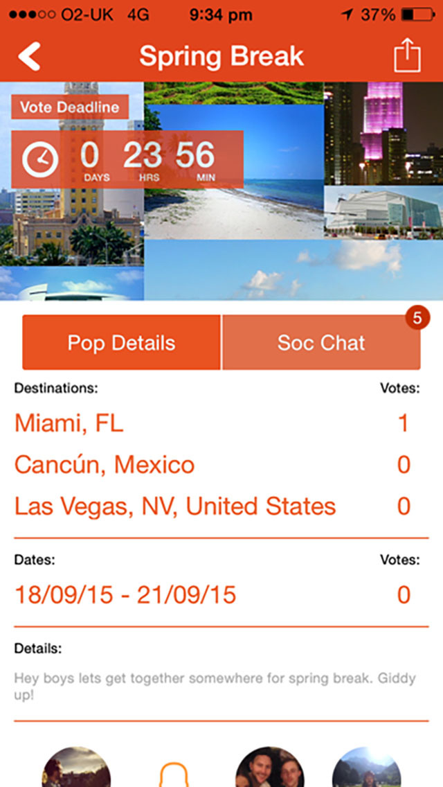 App shopper popsoc plan your next social adventure travel for Plan book app