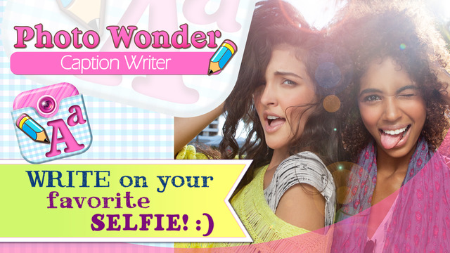 Photo Wonder Caption Writer - Insert Text Quotes and Add Word Art on Pictures fast