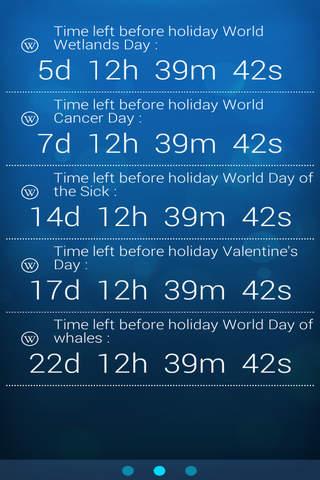 Holidays Notifier screenshot 1