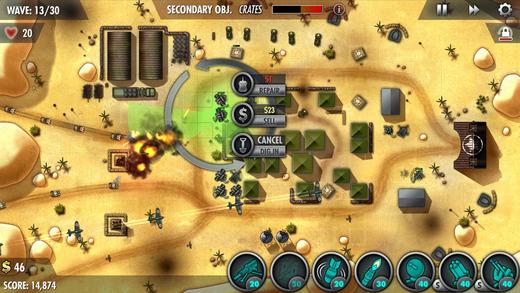 《塔防游戏 - iBomber Defense Pacific [iOS]》